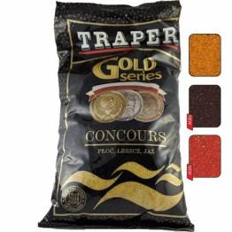 Прикормка TRAPER GOLD 1 кг Concours  (черный, коричневый, красный)